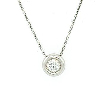 Juwelier Vanquaethem Halsketting Goud 18 Karaat - Briljant