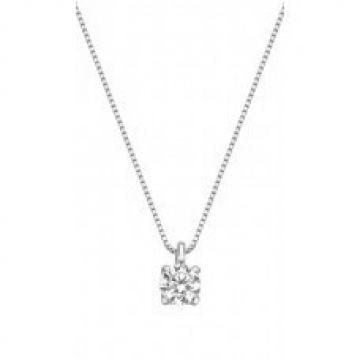 Juwelier Vanquaethem Halsketting Goud 18 Karaat - Zirconium