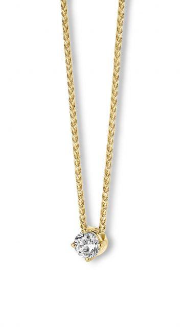 Juwelier Vanquaethem Hanger Briljant Goud 18 Karaat