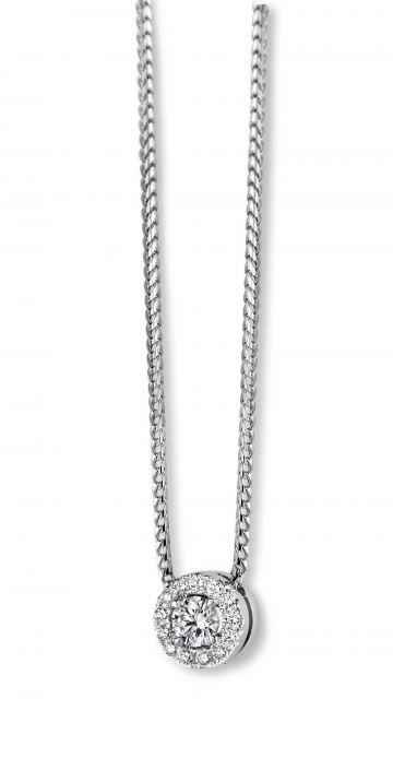 Juwelier Vanquaethem Ketting Briljant Goud 18 Karaat