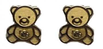 Juwelier Vanquaethem Kinderoorringen Goud 18 kt - beertjes