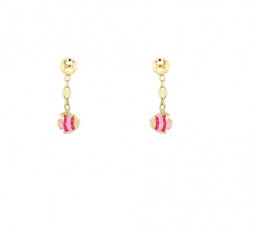 Juwelier Vanquaethem Kinderoorringen Goud 18 kt - Vis Roze