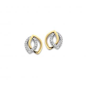Juwelier Vanquaethem Oorringen Goud 18 Karaat - Briljant