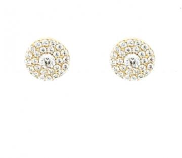 Juwelier Vanquaethem Oorringen - Goud 18 Karaat - Zirconium