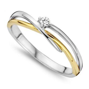 Juwelier Vanquaethem Ring 18 karaat - Briljant