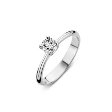 Juwelier Vanquaethem verlovingsring - Goud 18 karaat - Briljant